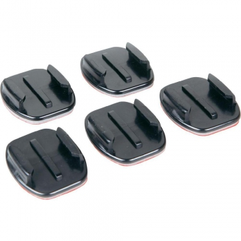 Flat adhesive mounts